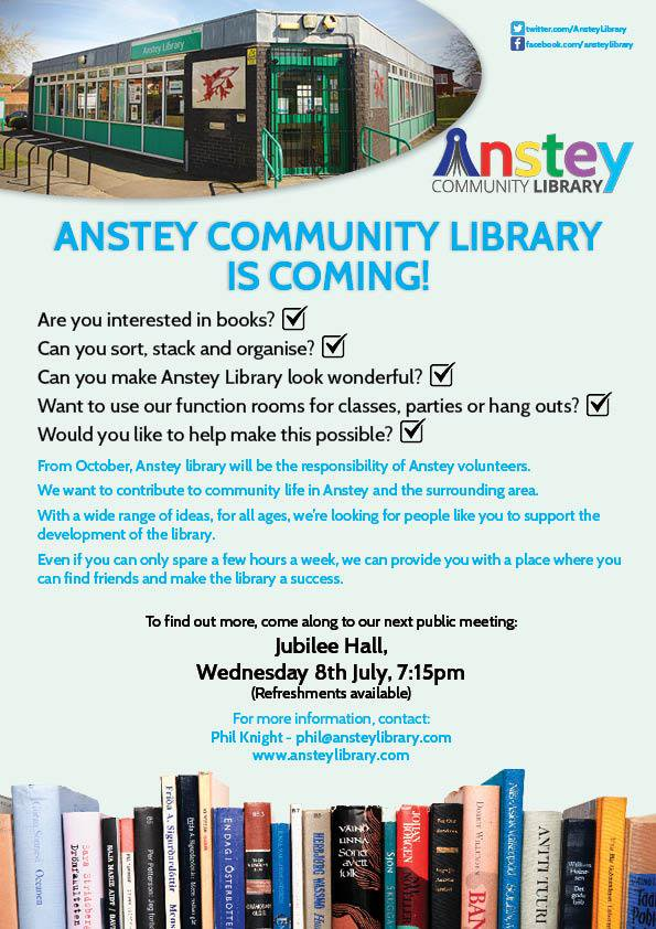 Anstey Volunteer Recruitment Flier