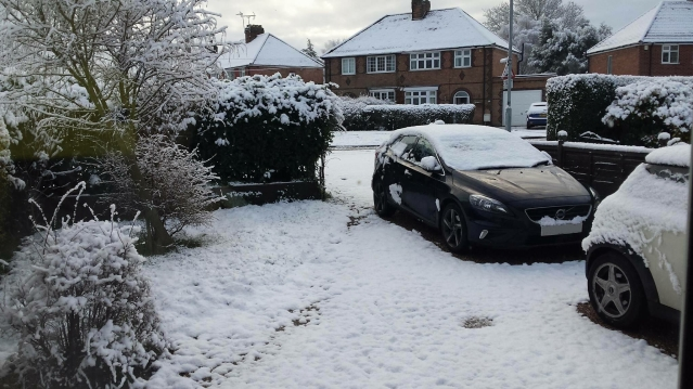 Snowfall in Groby (Photo: Katie Masca)
