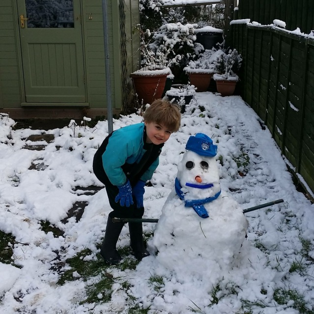 Alex & Snowman (Photo: Phil Mills)