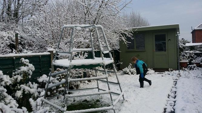 Alex in the snow (Photo: Phil Mills)
