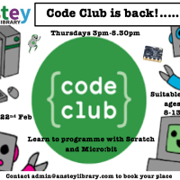 Code Club Returns:  Starting 22nd Feb 2018