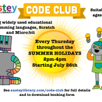 Summer Holiday Code Club at Anstey Community Library