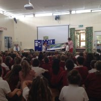 Anstey Library visits Woolden Hill to promote the Reading Challenge